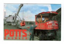 C.P °_ Publicité-R.Uni-Potts Buckets-Specialists Excavator-9x14 Cm-1995 - Advertising