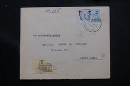 ETHIOPIE - Enveloppe En Recommandé De Asmara En 1968 Pour Addis Abeba, Affranchissement Plaisant Recto / Verso - L 60293 - Äthiopien