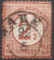 Germany 1874 2½ Gr Brustschild Two-ring Cancel Waren (Mecklenburg-Schwerin)  2005.05265 Large Coat Of Arms, Defects - Germany