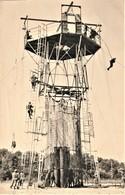 Rare  Photo Parachutiste Tour De Saut D'entrainement 8.5 X 12.5 Cm - 1939-45