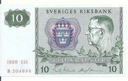 SUEDE 10 KRONOR 1989 UNC P 52 E - Suède