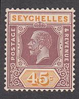 Seychelles 1921 45c  SG116   MVLH - Seychelles (...-1976)
