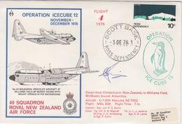 Polaire Néozélandais, N° 13 Obl. Scott-Base Le 3 DE 76 + Flight 4 Opération Icecube 12 + 3 Cachets Au Dos - Dépendance De Ross (Nouvelle Zélande)