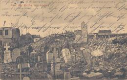 62 - ANGRES / CARTE POSTALE ALLEMANDE DE L'EGLISE DETRUITE - France
