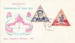 MONACO- 1951 - FDC? - St Vincent De Paul Et Pie XII - FDC