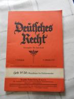 """Orig. Heft """"Deutsches Recht"""" 1937 - Magazines & Newspapers"""