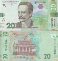 Ukraine Pick-Nr: A126 Bankfrisch 1995 20 Hryven - Ucrania