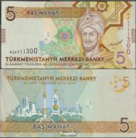 Turkmenistan Pick-Nr: 30 Bankfrisch 2012 5 Manat - Turkmenistan