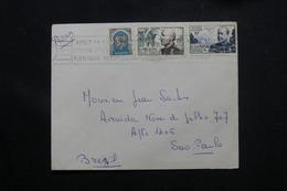 ALGÉRIE - Affranchissement Plaisant De Alger Sur Enveloppe Pour Le Brésil - L 60307 - Algeria (1924-1962)