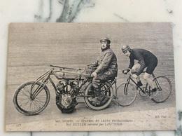 Les Sports. Stayers Et Leurs Entraîneurs Nat Butler Entraîné Par Lauthier. - Cycling