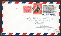 1958 CUBA HABANA TO ITALY - Cuba