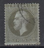 ROEMENIË - Michel - 1872 - Nr 36 (T/D 14 : 13 1/2) - Gest/Obl/Us - 1858-1880 Moldavie & Principauté
