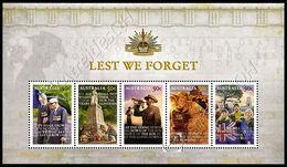 Australia 2008: Foglietto Ricordo Dei Caduti - ANZAC / Lest We Forget - ANZAC S/S ** - Militaria