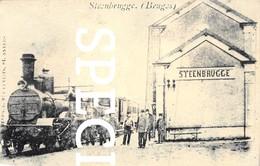 Station Met Locomotief  - Steenbrugge - Repro - Brugge