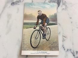 T.Ellégaard.Champion Du Monde Sur Bicyclette Peugeot. - Cycling