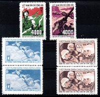 VIET-NAM NORD - YT N° 766-767 + 776-777 X2 - Neufs ** - MNH - Cote: 11,00 € - Vietnam