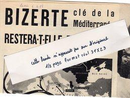 Extrait De La Vie: 3  Pages, 5 Photos :Bizerte Restera T-elle Française?, Format 30x23 - Journaux - Quotidiens