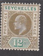 Seychelles 1921 12c  SG108  MH - Seychelles (...-1976)