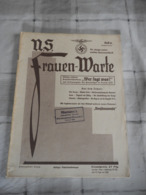 "Orig. Heft ""N:S. Frauen - Warte"" 1935/36 Frauenzeitschrift. - Hobbies & Collections"