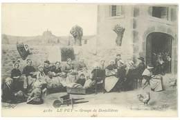 Cpa Le Puy - Groupe De Dentellières ( ELD ) - Le Puy En Velay