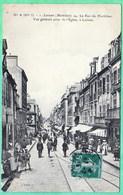 1 - LORIENT - LA RUE DU MORBIHAN - VUE GENERALE PRISE DE L'EGLISE - Lorient