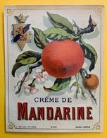 13840 -  Crème De Mandarine  Ancienne étiquette - Etiquettes