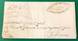 1849 SERRASANQUIRICO PER FABRIANO - ...-1850 Préphilatélie