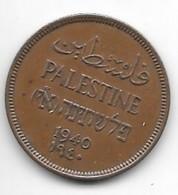 *palestina 1 Mil 1940 Km 1    Xf !!catalog Val 75$ - Coins