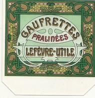 LU . ETIQUETTE DE BOITE NEUVE . GAUFRETTES PRALINEES - Cajas