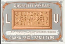 LU . ETIQUETTE DE BOITE NEUVE .GAUFRETTE VANILLE - Cajas