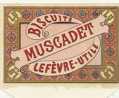 LU . ETIQUETTE DE BOITE NEUVE .BISCUIT MUSCADET - Cajas