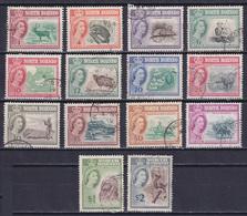 NORTH BORNEO 1961, SG# 391-404, Short Set, Birds, Animals, Used - Borneo Del Nord (...-1963)