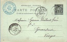 55 ETAIN : Entiers Postaux - Année 1898 Mars  - J. MINAUX - Etain