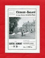 2 Brochures  AEROPLANE  SANTOS-DUMONT N°20  CLEMENT-BAYARD 1911 - Vliegtuig