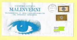 TIMBRES SUR LETTRE, ITALIE, PUBLICITE CENTRE OPTIQUE, ŒIL - Autres
