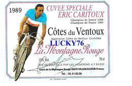 Etiquette De Vin Cuvée Speciale Eric Caritoux La Montagne Rouge Cotes Du Ventoux - Côtes Du Ventoux