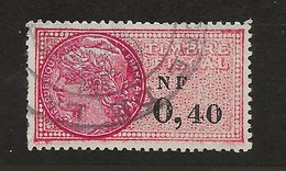FISCAUX FRANCE SERIE UNIFIEE N°330  0NF40 ROSE - Revenue Stamps