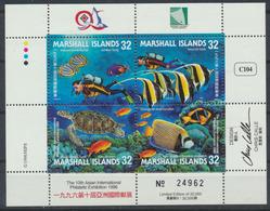 Marshall Inseln Kleinbogen 746-749 Postfrisch Briefmarkenausstellung TAIPEI 96 - Marshallinseln