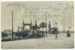 Ansichtskarte Mannheim Friedrich-Brücke 1907 Nach Weinheim - Mannheim