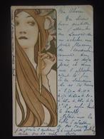 Mucha Alphonse 41 Alfons Champenois 1900 Woman With Quill Jeune Fille A L Plume - Mucha, Alphonse