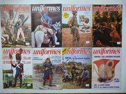 """8 Revues """" UNIFORMES"""" + 2 Gravures Supplément - Weapons"""