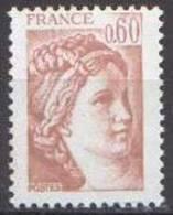 France Sabine De Gandon N° 2119 ** Le 0f60 Brun Rose - 1977-81 Sabine Of Gandon