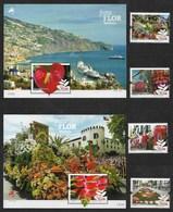 Portugal / Madeira 2015  Mi.Nr. 350 / 53 + Block 61/62 , Festa Flor Madeira - Postfrisch / MNH / (**) - Unused Stamps