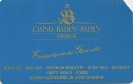 Télécarte 6DM : Casino Baden Baden Spielbank (1 Coin Coupé) - Telefoonkaarten