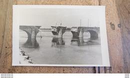 Carte Photo Du Pont De Cessart A SAUMUR  .................... MM-2387 - Saumur
