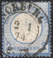 Germany 1872 2 Gr Grosser Brustschild Two-ring Cancel Norburg (Schklesvig-Holstein 2005.0532 Large Coat Of Arms, Defects - Germany