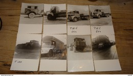 Lot De 32 Photos De Divers Camions, Années 60? , Format 8*12cm Environ - Automobiles