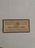 (U2) Souvenir Pieux : Meur Victor Vanden Sande , Mort Au Camp De Dora (Allemagne) En Mars 1945 - Décès