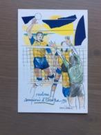 Cartolina In Bianco Panini Philips Pallavolo Maschile Modena - Volleyball