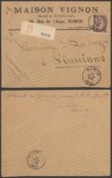 Belgique 1893 - Recommandé Namur Vers Flawinnes - 1893-1900 Schmaler Bart